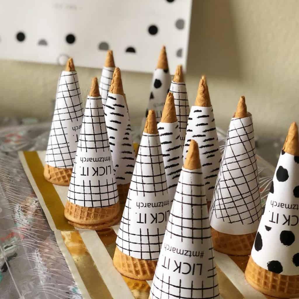 custom ice creame cone sleeve